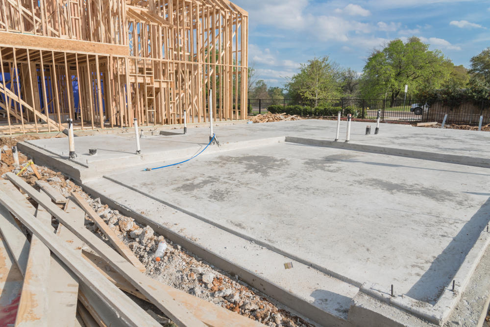 complete concrete slab for a commercial building,Los angeles